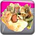 炸脆饼和海鲜炖饭