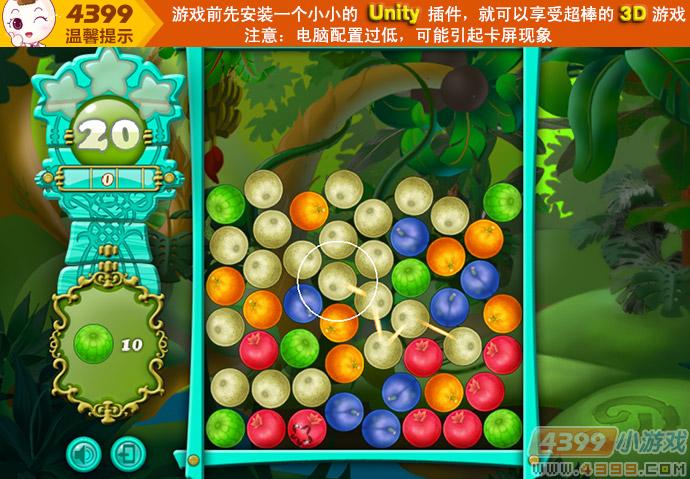 森林水果消消看小游戏,在线玩,4399小游戏