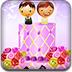 甘美的婚礼蛋糕装饰