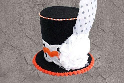 调皮的万圣节迷你顶帽头带手工制作