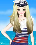 海军服女孩