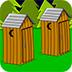 野外森林露营逃脱