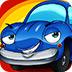 蓝色卡通汽车拼图