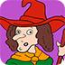 万圣节的女巫填颜色小游戏