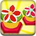 美味的花朵蛋糕