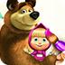 玛莎和熊填色书