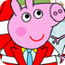小猪佩奇全家福上色