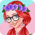 可爱粉嫩的女孩